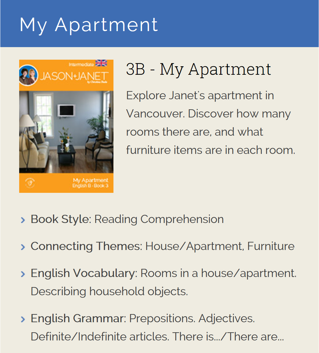 My Apartment - English eBook