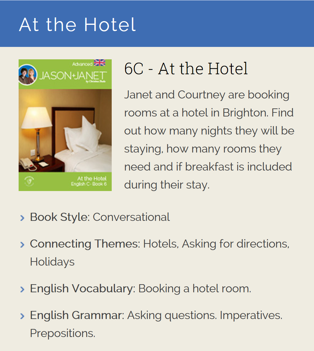 At the Hotel - ESL eBook