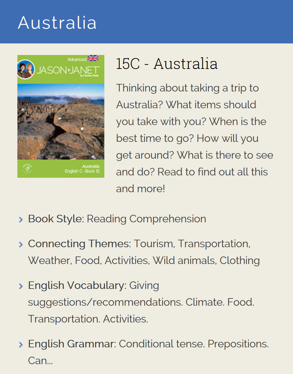 Australia - ESL eBook