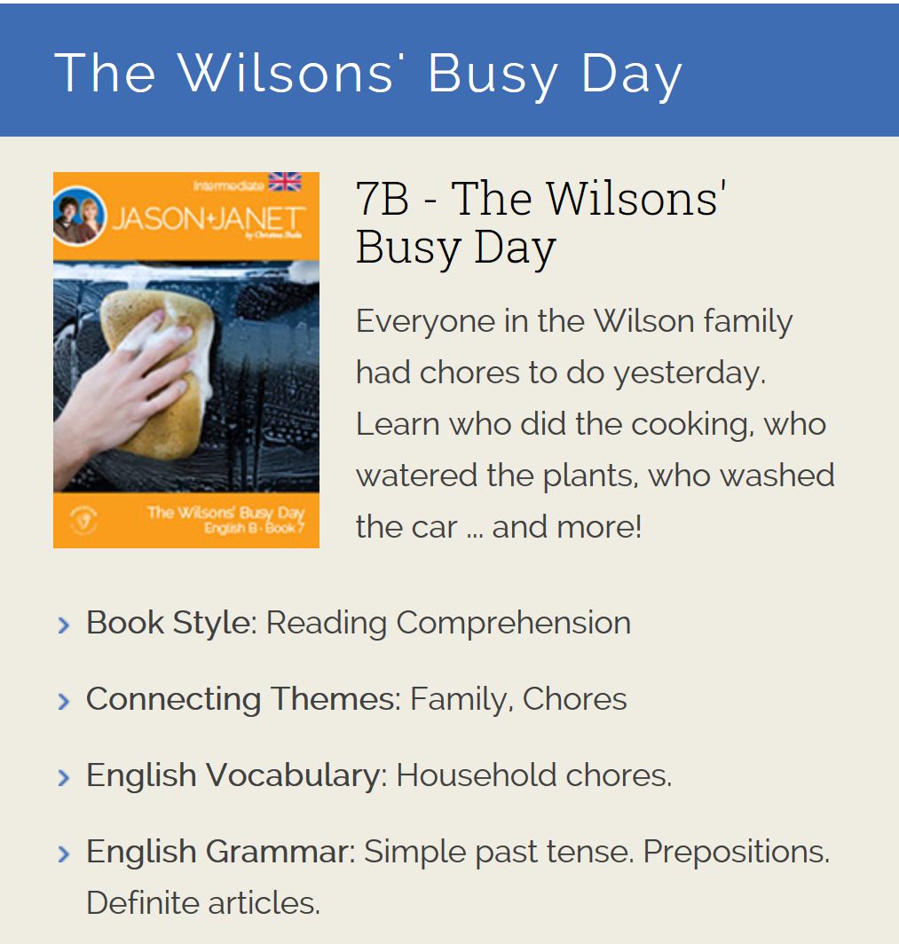 The Wilsons' Busy Day - English eBook