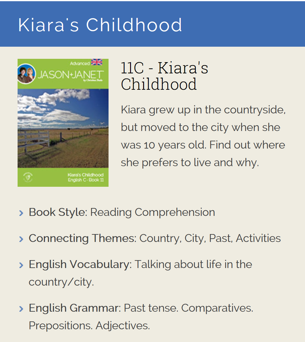 Kiara's Childhood - ESL eBook