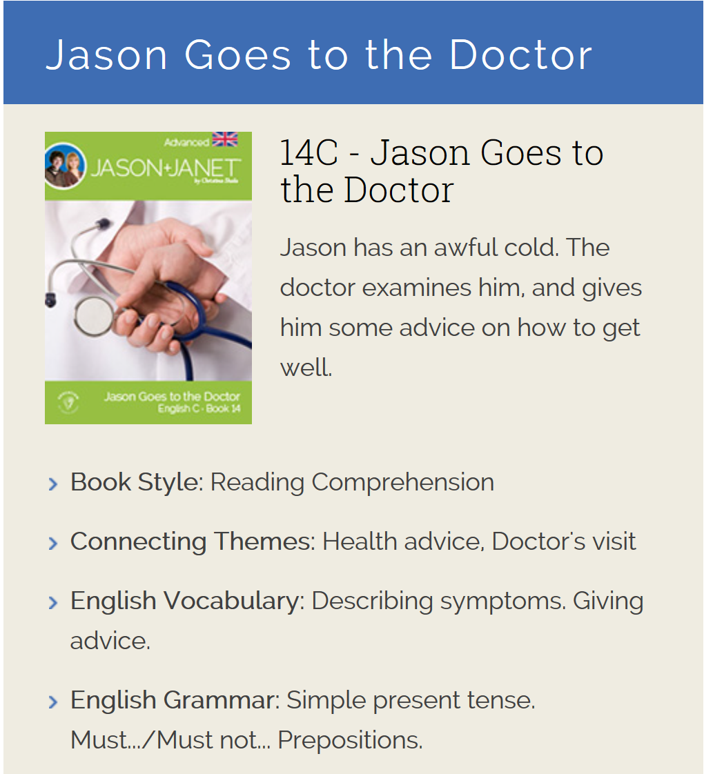 Jason Goes to the Doctor - ESL eBook