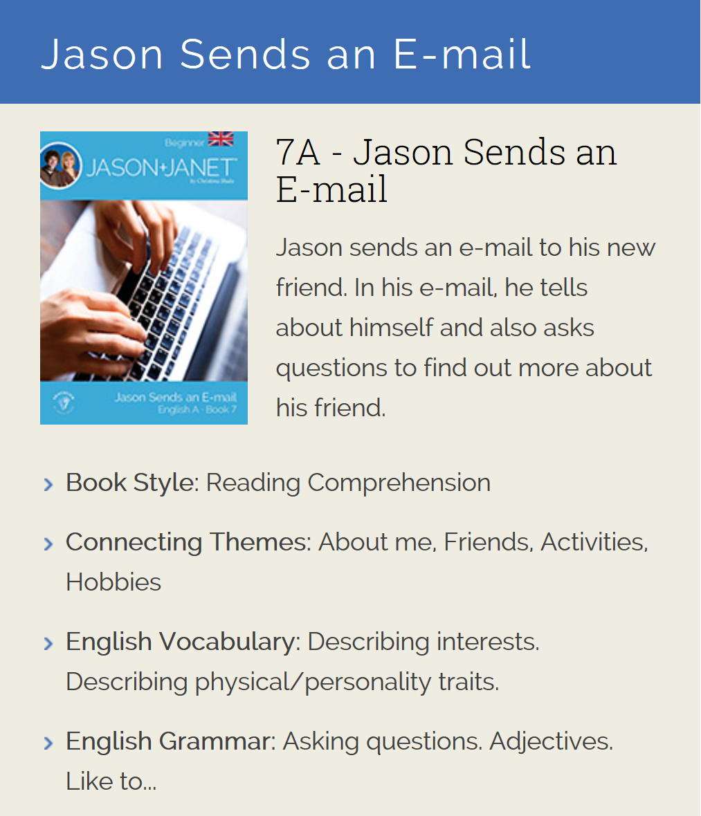 Jason Sends an E-mail - ESL eBook