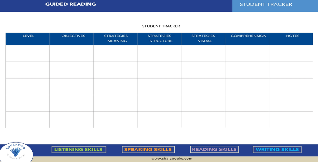 Guided Reading - Student Tracker