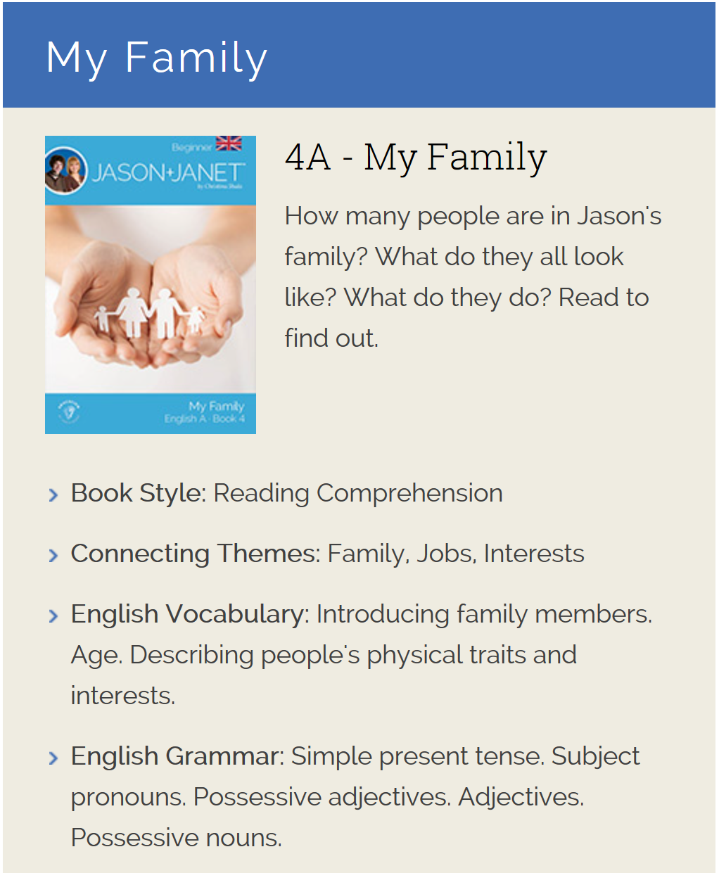 My Family - ESL eBook