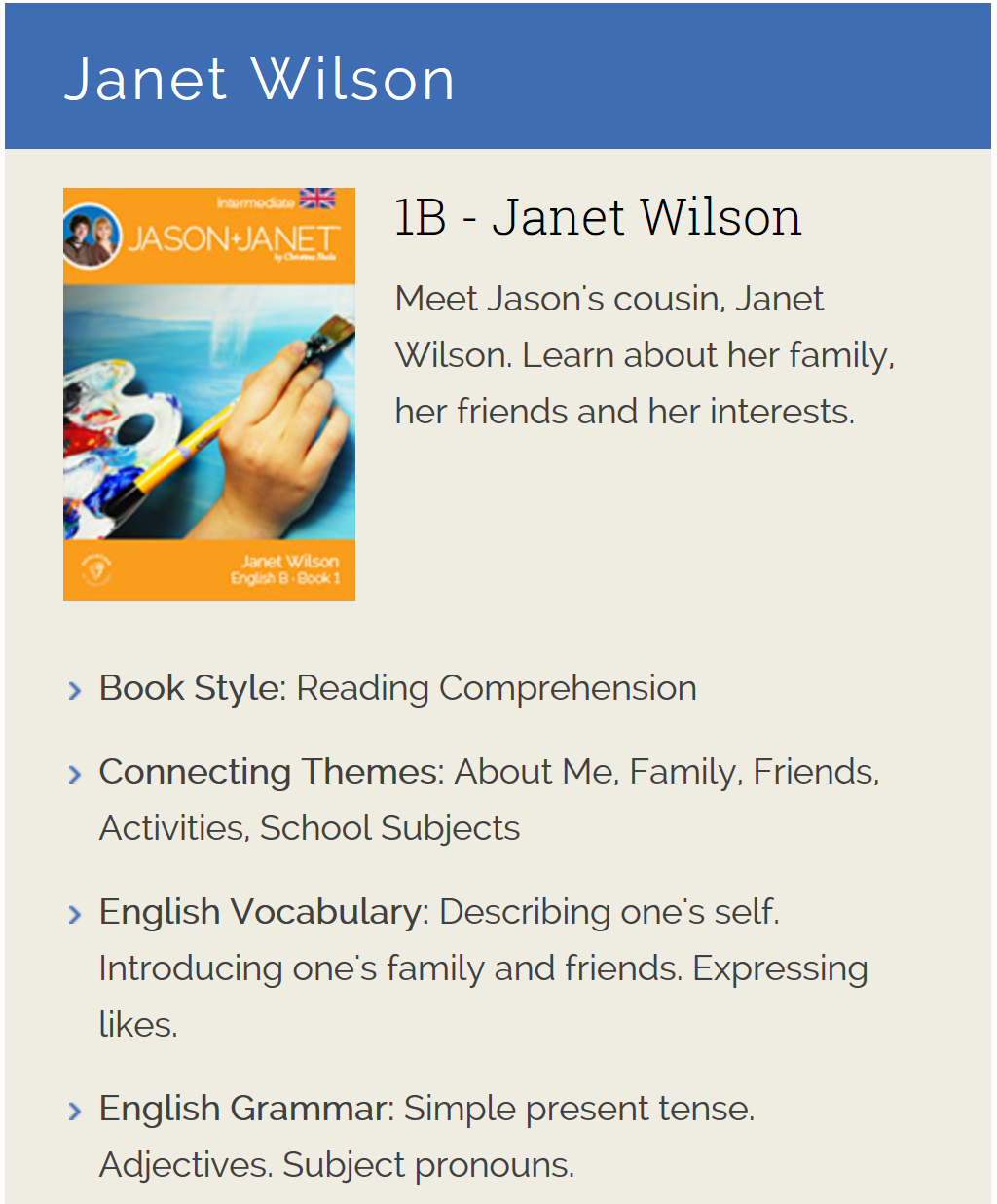 Janet Wilson - English eBook