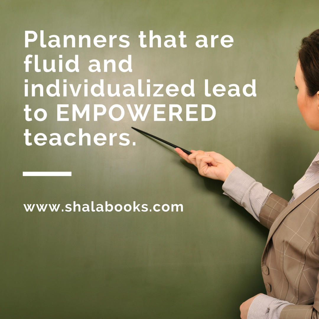 Planners that are individualized ...