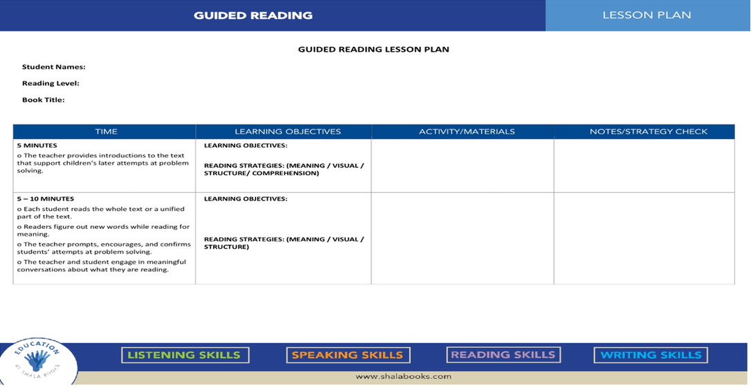Setting Up a Guided Reading Program Across Grade Levels
