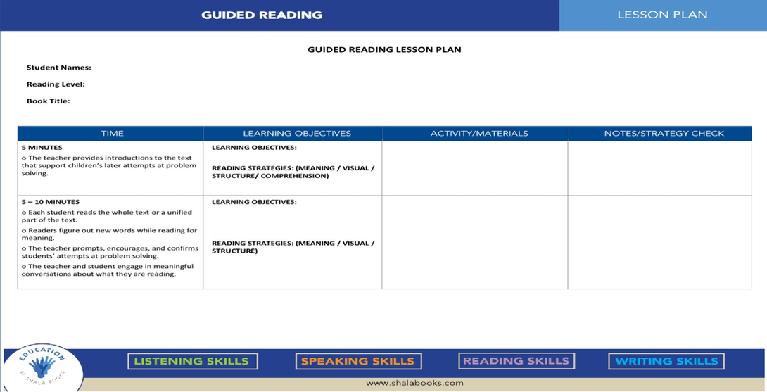 Setting Up a Guided Reading ...