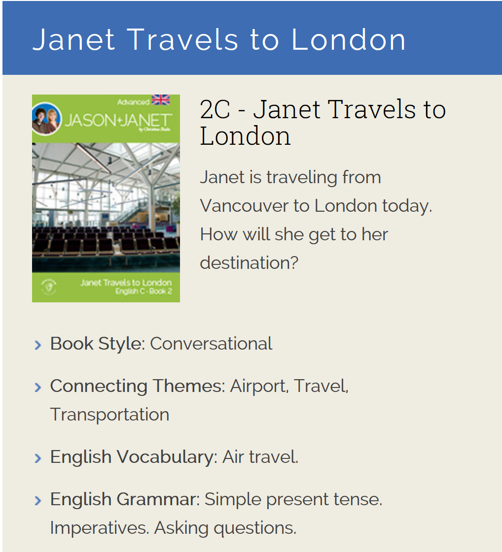 Janet Travels to London - ESL eBook
