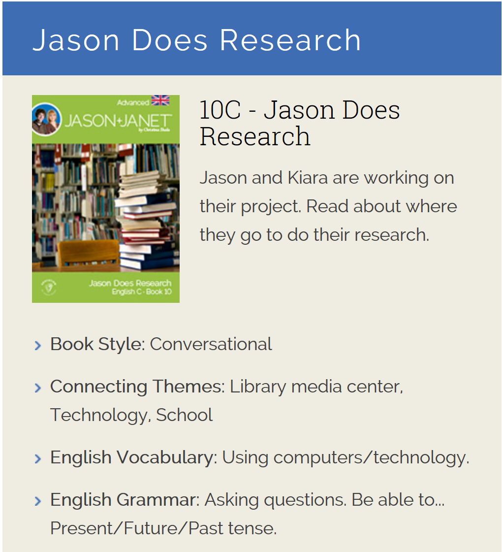 Jason Does Research - ESL eBook