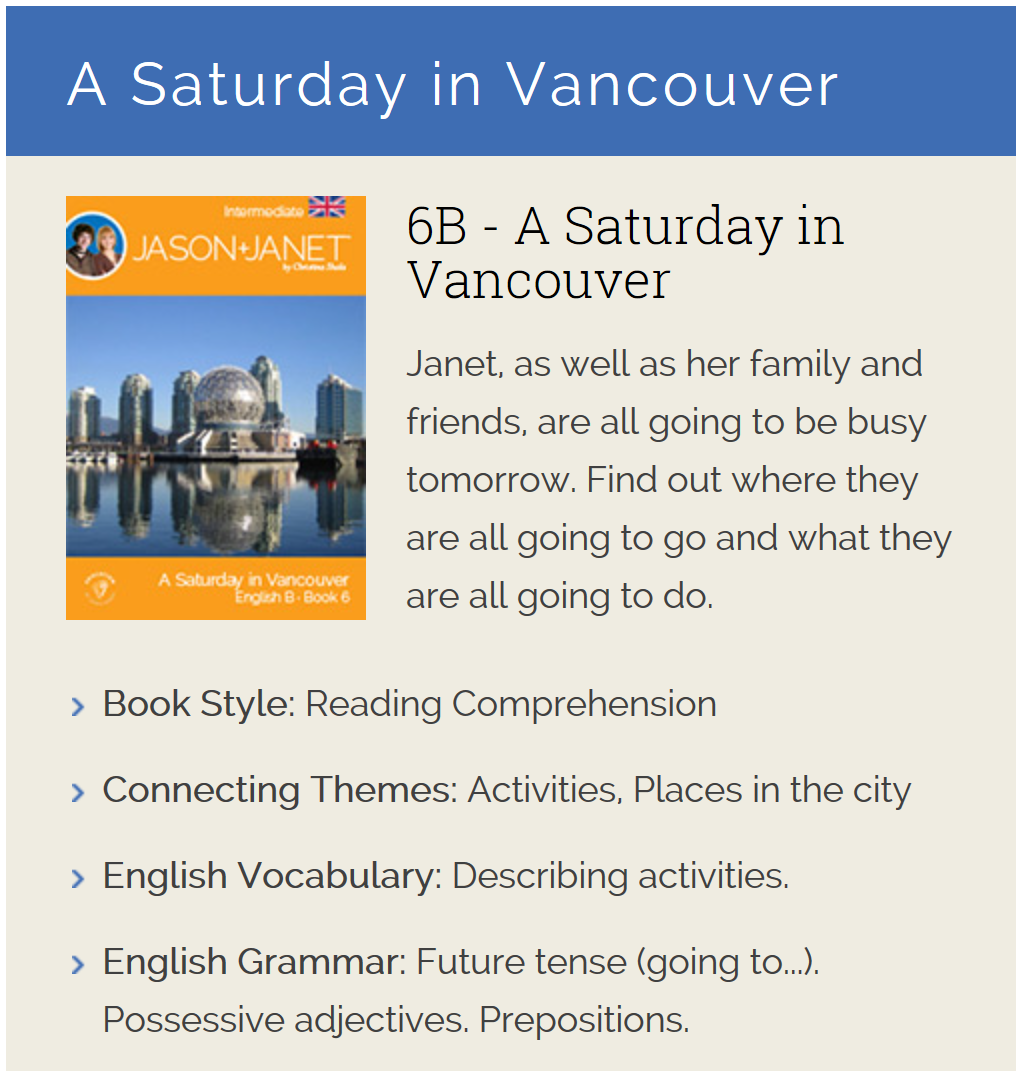 A Saturday in Vancouver - English eBook