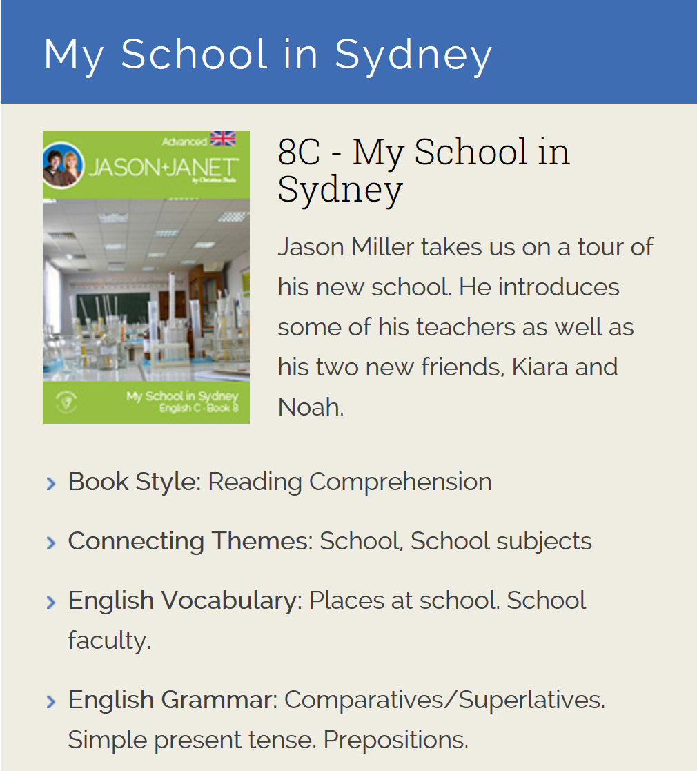 My School in Sydney - ESL eBook