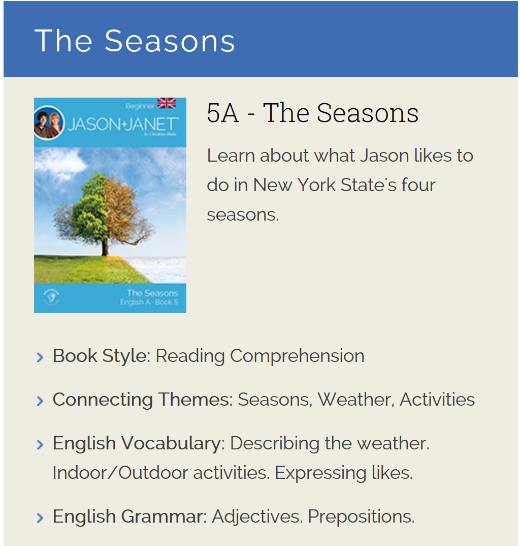 The Seasons - ESL eBook