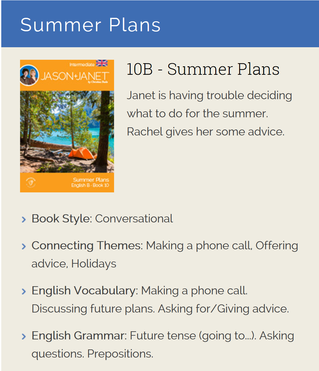 Summer Plans - English eBook