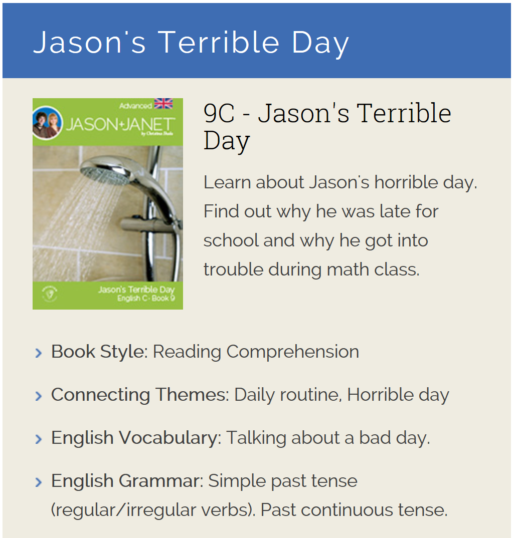 Jason's Terrible Day - ESL eBook