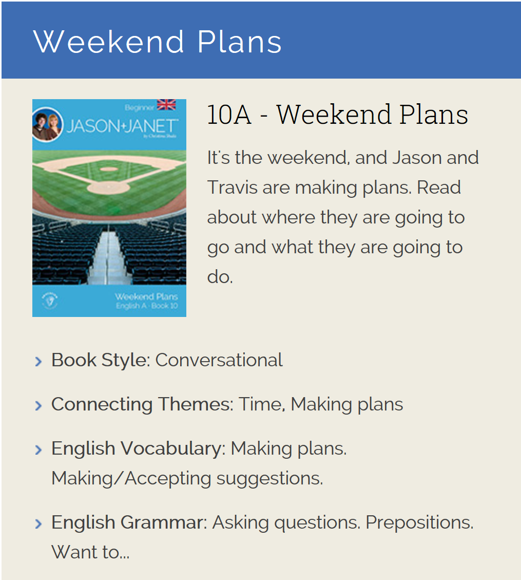 Weekend Plans - ESL eBook
